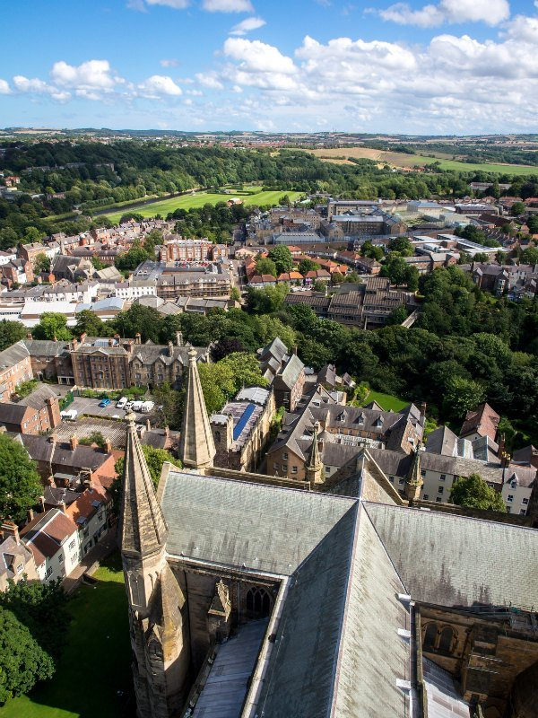Durham Cathedral Tower View