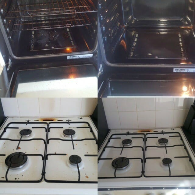 Mini oven clean before and after
